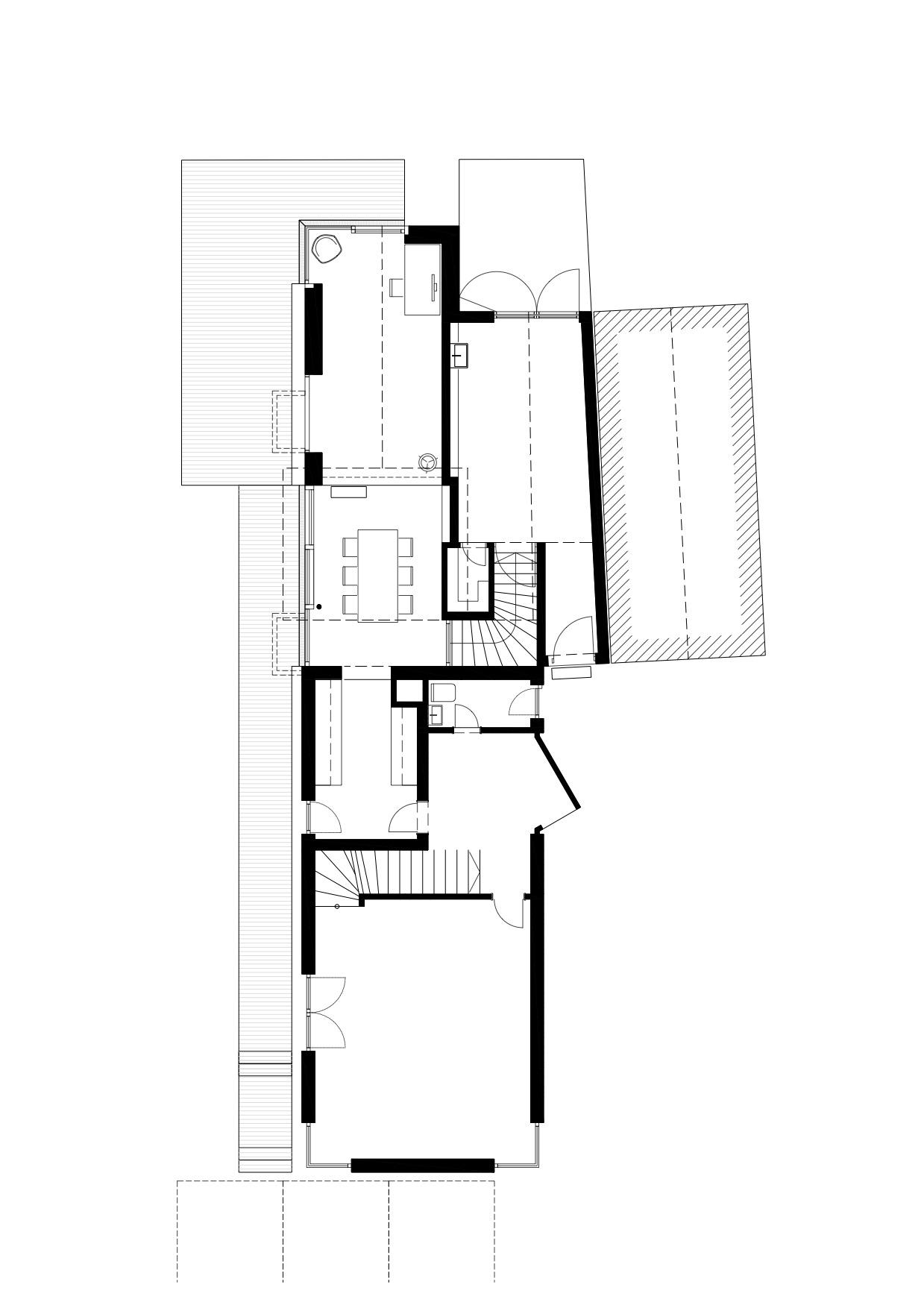 Haus Grünauer, Grundriss Erdgeschoss